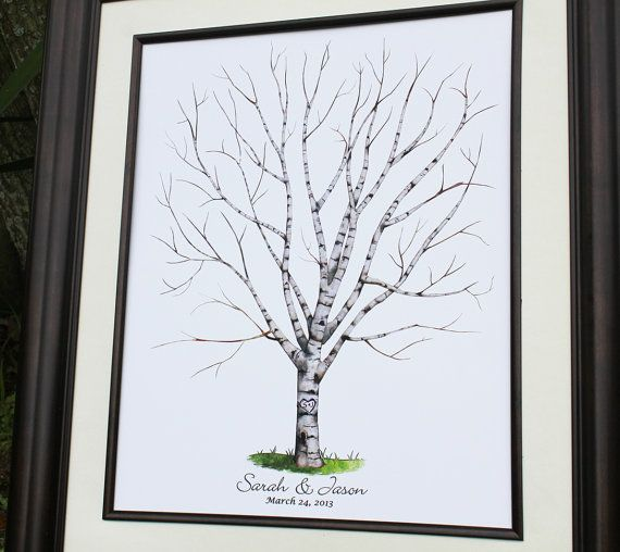 Guest Book Wedding Tree Personalized Wedding Gift by fancyprints, $35.00