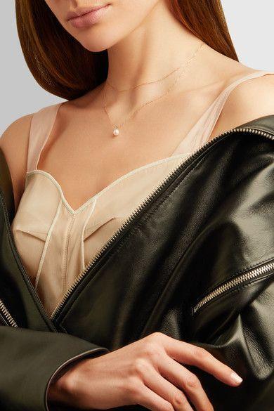 Mizuki - 14-karat Gold, Freshwater Pearl And Diamond Necklace - one size