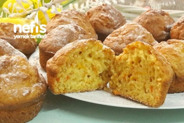 Puf Puf Elmalı Havuçlu Muffin (Enfes)