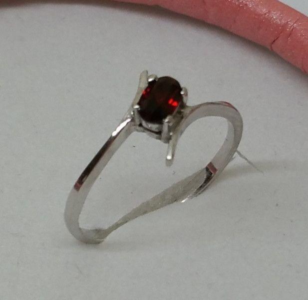 Vintage Ringe - Eleganter zierlicher Ring Silber 925 Granat SR334 - ein…