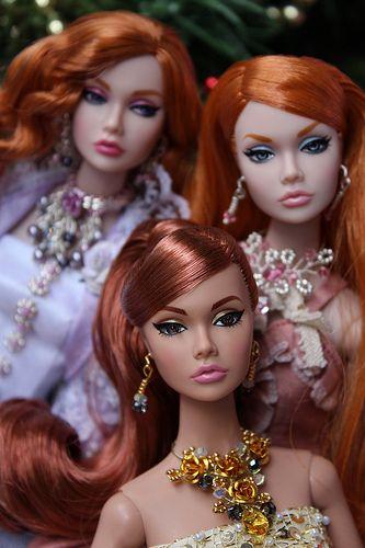 Redhead Poppy Parker dolls