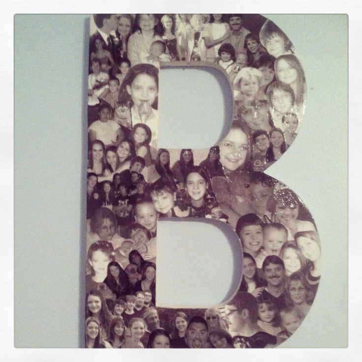 15 inch custom photo collage on wooden letter listing is With wooden letter photo collage