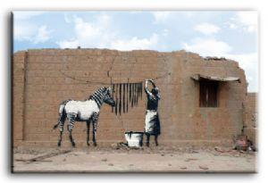 Banksy Zebra Washing Stripes