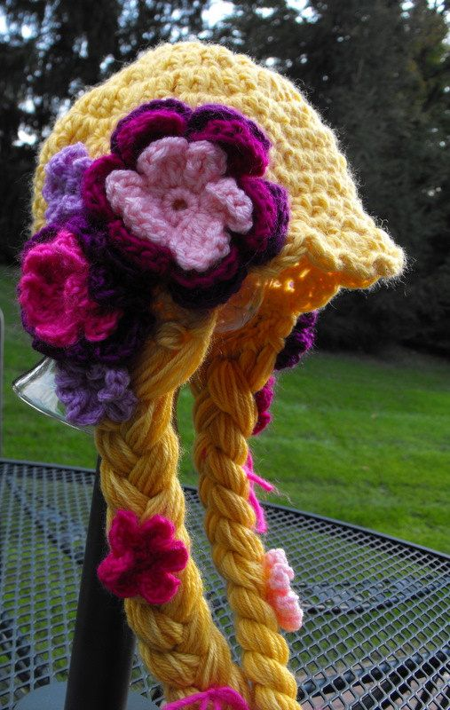 "RAPUNZEL   Character Crochet Hat - ""Tangled""  - Sizes 1-3 years. $44.00, via Etsy."