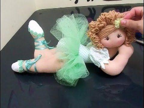 Como fazer cabelo de boneca com lã(penteados coque bailarina e cabelo solto) - YouTube