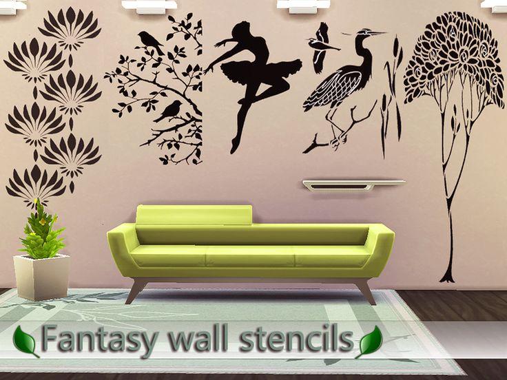 Sims  Cc Wall Decor