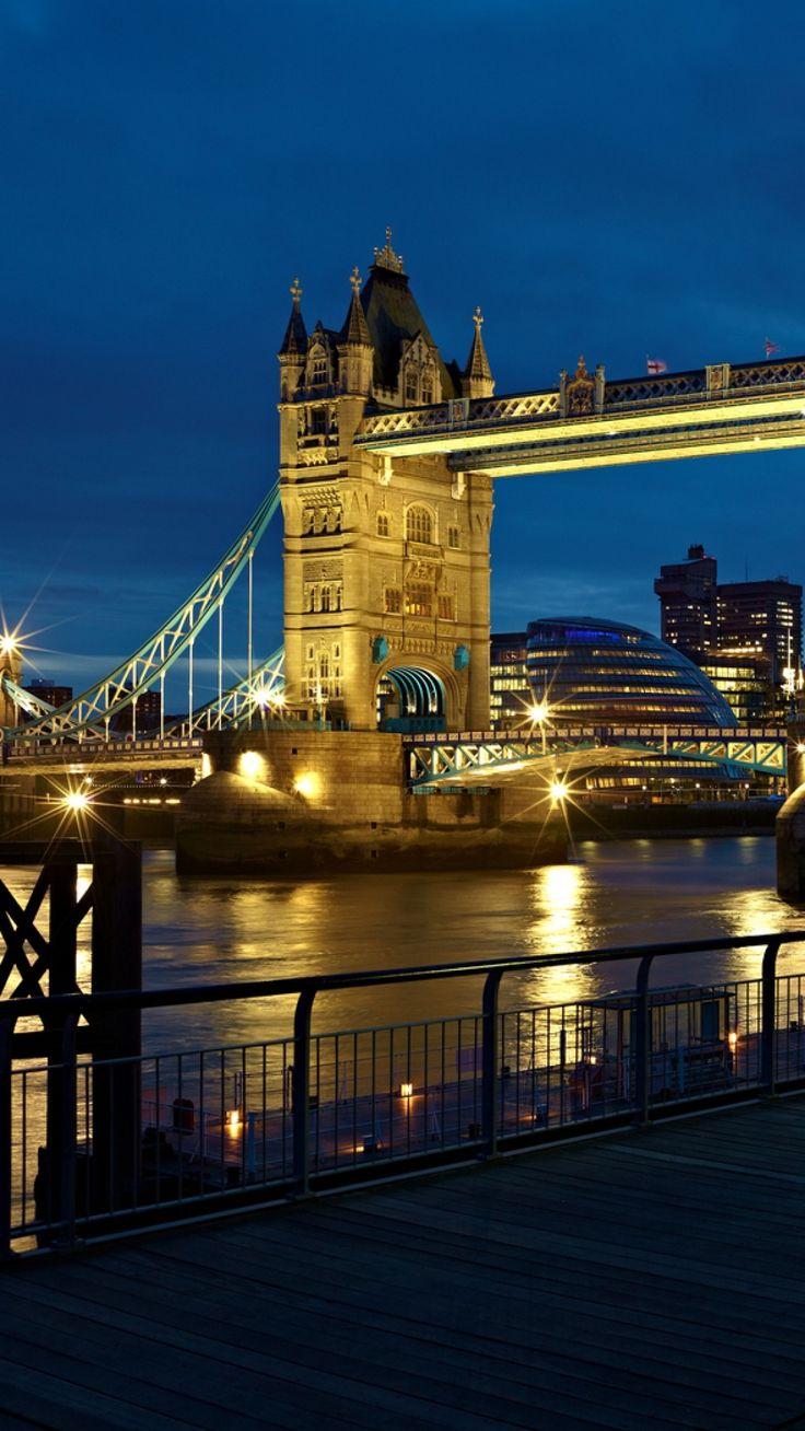 Night lights queens walk london - London England City Night Lights River Thames Uk