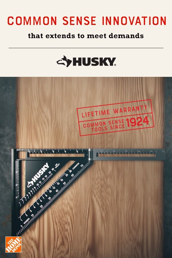 Husky 2 In 1 Extendable Square Hssp6 Rafter Square Home Depot Depot
