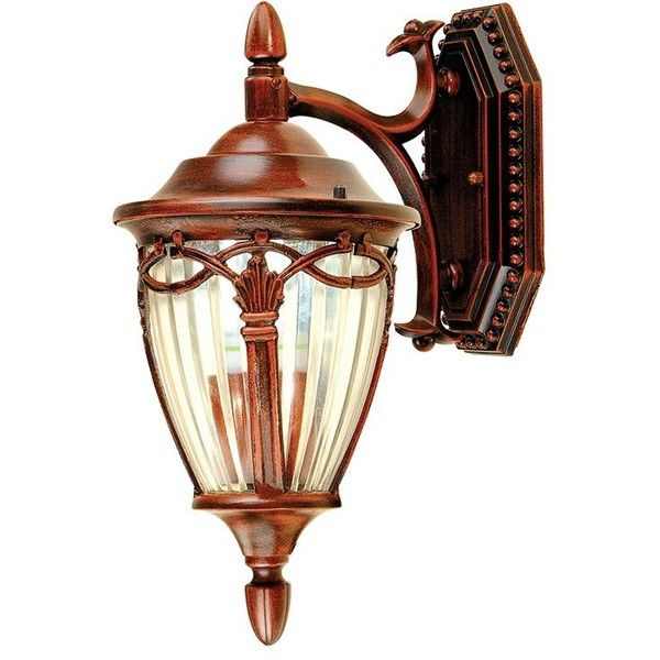 Vintage Industrial Style Flower Basket Shape Down Wall Sconce ($81) ❤ liked on Polyvore featuring home, lighting, wall lights, outside lamps, outdoor wall lamp, flower lamp, outdoor lamps and outside light