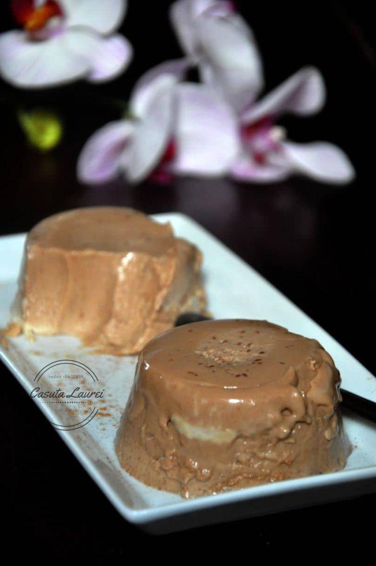 Panna cotta de espresso cu ciocolata via @casutalaurei