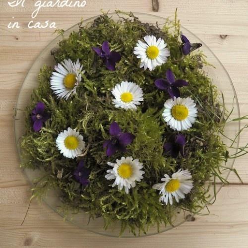 Decorazione di primavera: il giardino nel piatto