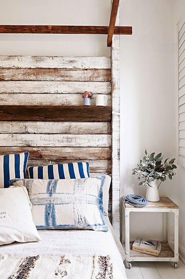 Cabeceros con maderas recicladas #decoracion #decor