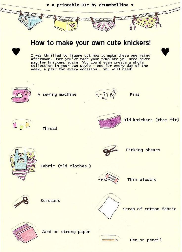 DIY Tutorial - How to make your own knickers! (Printouts)