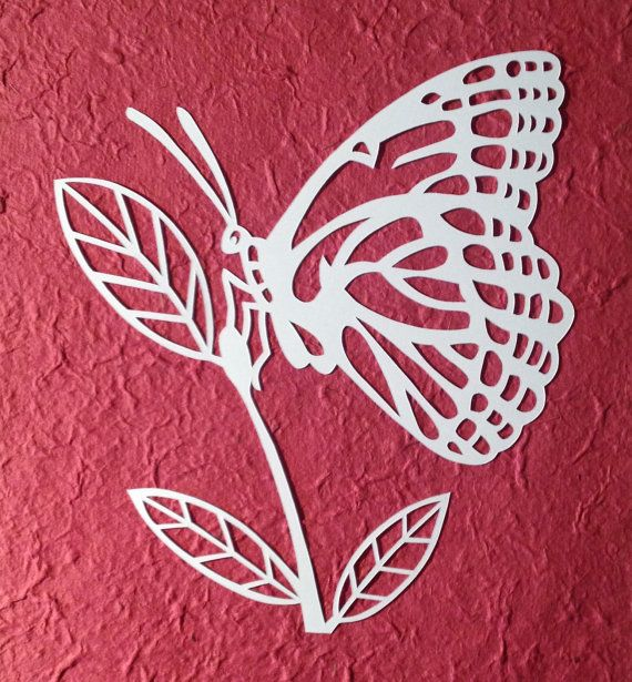 TEMPLATE Butterfly Paper Cut Personal Use by LoveLeelaArt on Etsy