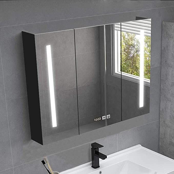 Rkrzlb Bathroom Mirror Cabinet Illuminated Mirror Wall Bathroom Cabinet With Mirrors Create Your O In 2020 Bathroom Mirror Cabinet Mirror Cabinets Mirror Wall Bathroom