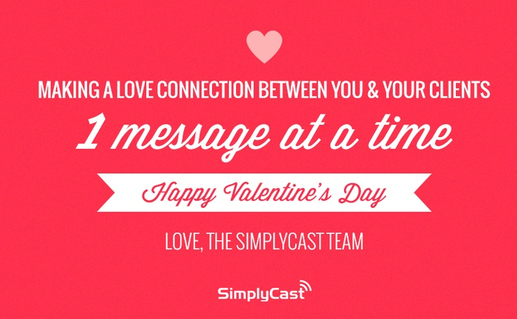 Happy Valentine's Day from the SimplyCast Team!