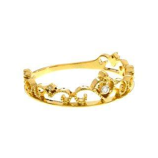 Cincin Berlian dan Emas 75% Golden Tiara