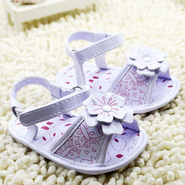 2015 On Sale 0 -12 Month Summer Beautiful Flora Hot Pink Cotton Fabric Soft Bottom First Walkers Baby Sandals Children Shoes