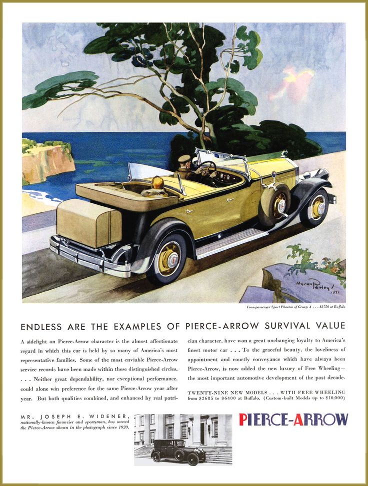 68 best Pierce Arrow Car Ads images on Pinterest | Cars, Autos and ...