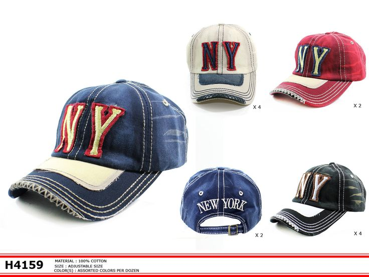 Vintage Inspired NY #baseballcap @ www.sunben.com #wholesale @fashionaccessories