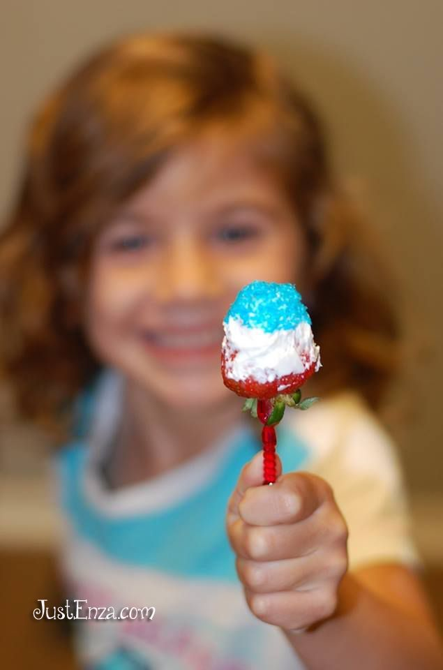 Red White & Blue Strawberries are perfect for Independence Day, Memorial Day, Veterans Day, etc..