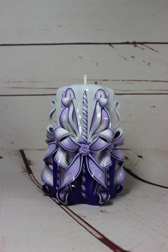 Kerze 7cm Geschnitzte Kerze Geschenk Idee Deko Handmade Geschnitztekerze