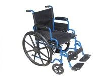 #wheelchair #Denver -Blue Streak Wheelchair with Flip Back Desk Arms and Swing Away Footrest - bls18fbd-sf