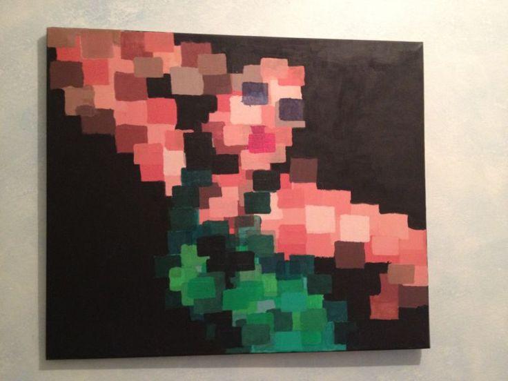 Mujer pixelada