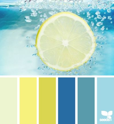 refreshing hues - I feel refreshed just looking at this, let alone sitting by the pool with fresh lemonade. Heck, with colors as beautiful as these, In my mental image, I look really fabulous in my bathing suit as well! :-)