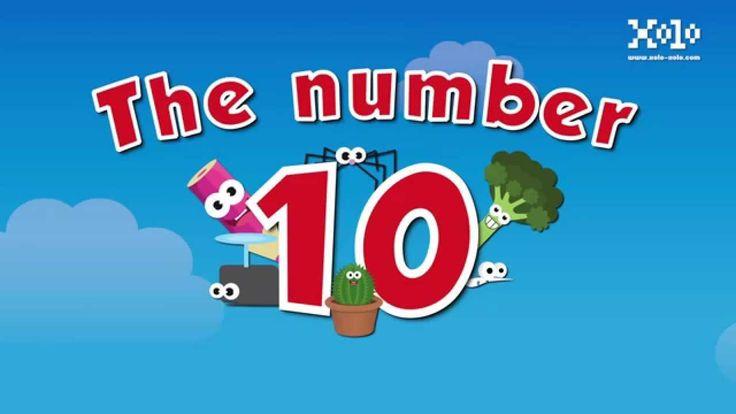 Videos del número 10 en ingles para niños