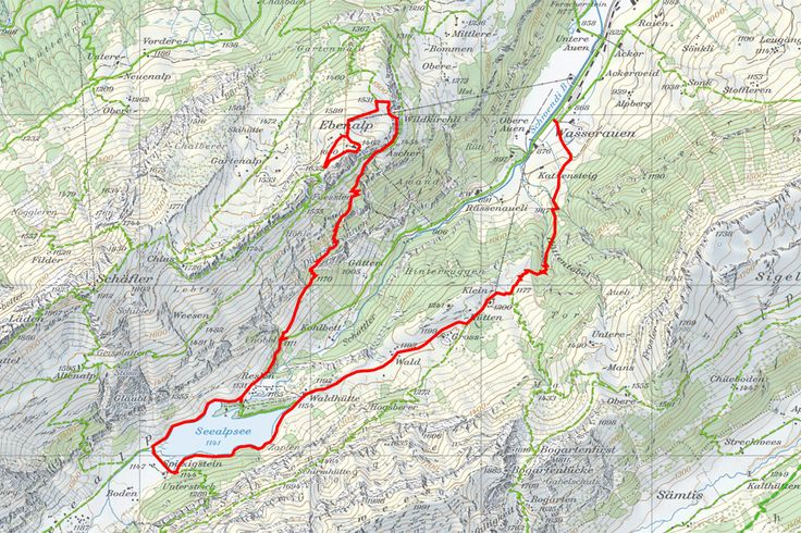 Appenzell // Ebenalp - Wildkirchli - Gasthaus Äscher - Seealpsee Grundkarte: http://www.swisstopo.admin.ch/