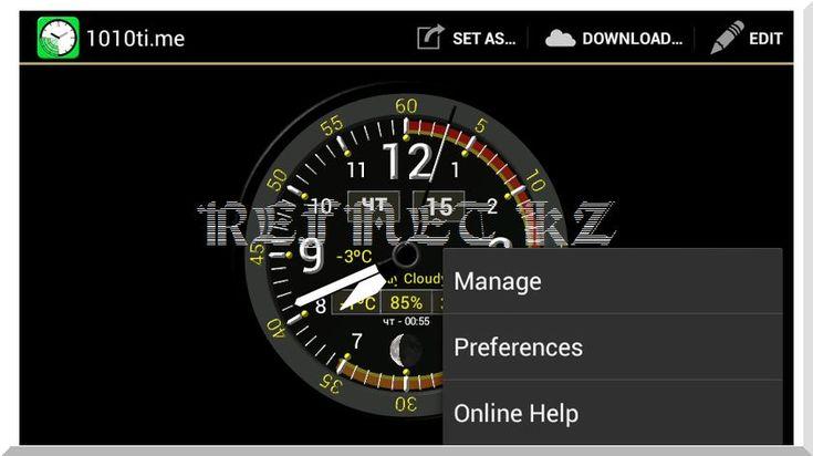 Android виджет часы 1010ti.me: вы увидите не только время