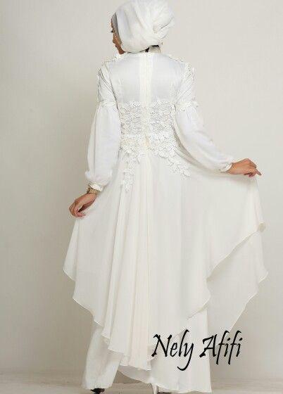 Gamis Pesta Muslimah shiffon lace prada