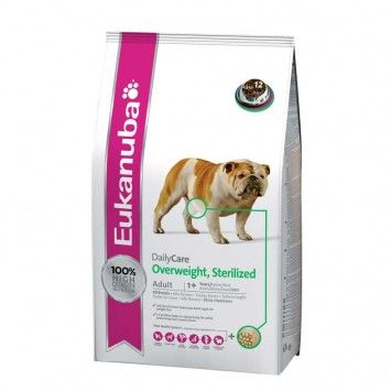 Eukanuba Daily Care Foder til Overvægtige Hunde - Giver daglig ernæring og indeholder naturlig fedtforbrænder til at bevar muskelmassen. Bygger sundt immunsystem, understøtter sunde led, og forhindrer ophobning af tandsten og plak. Indeholder 22% protein. www.petdreams.dk