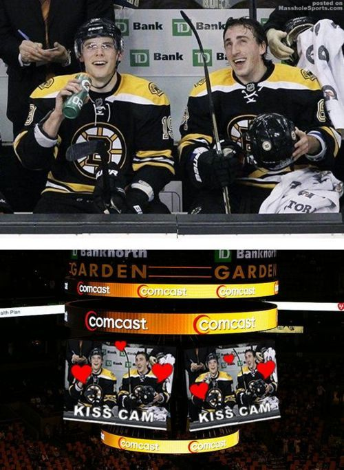 I don't even care of this is real or not because I just love this and think it is so perfect.Bruins Hockey, Bruins Baby, Brad Marchand, Boston Bruins, Bradmarchand Tylerseguin, Hockey Baby, Epic Bromance, Hockey Things, Tyler Seguin