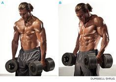 FITNESS - Build Towering Trapezii: 5 Moves To Bigger Traps - Shrugs - Bodybuilding.com.