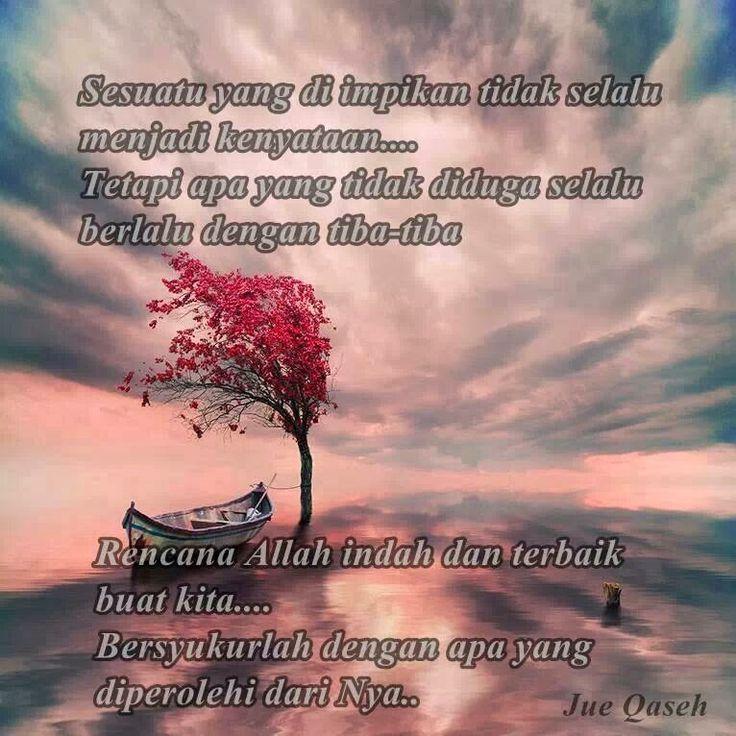 Rencana Allah itu indah & terbaik untuk kita..