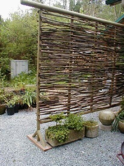 Wonderful Wattle Fencing Screen Made From Branches
