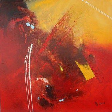 """Saatchi Online Artist Roswitha Schablauer; Painting, """"Spuren"""" #art"""