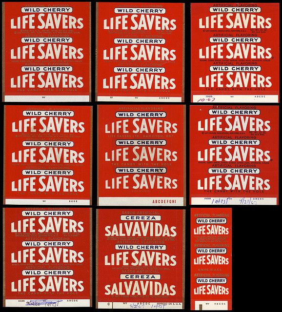 Life Savers - Master Roll Wrapper page - Wild Cherry - 1960's   Flickr - Photo Sharing!