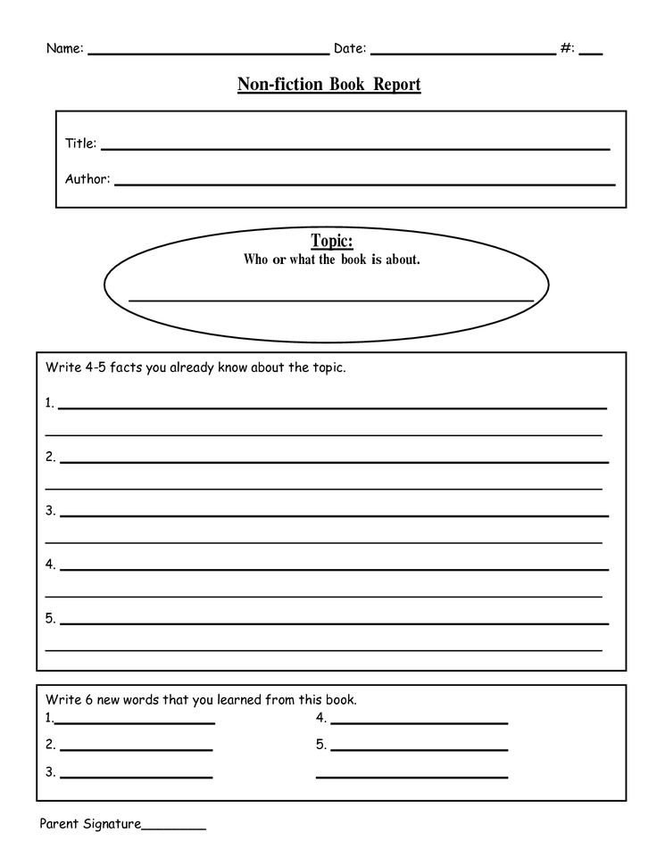 Free Printable Book Report Templates | non-fiction book report.doc