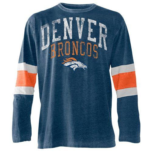 G-III NFL Vintage Distressed L/S Jersey T-Shirt - Men's - Football - Clothing - Denver Broncos - Multi