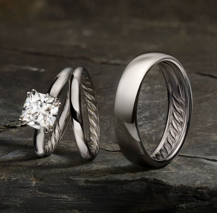 David Yurman Eden Engagement Ring And Wedding Bands By David
