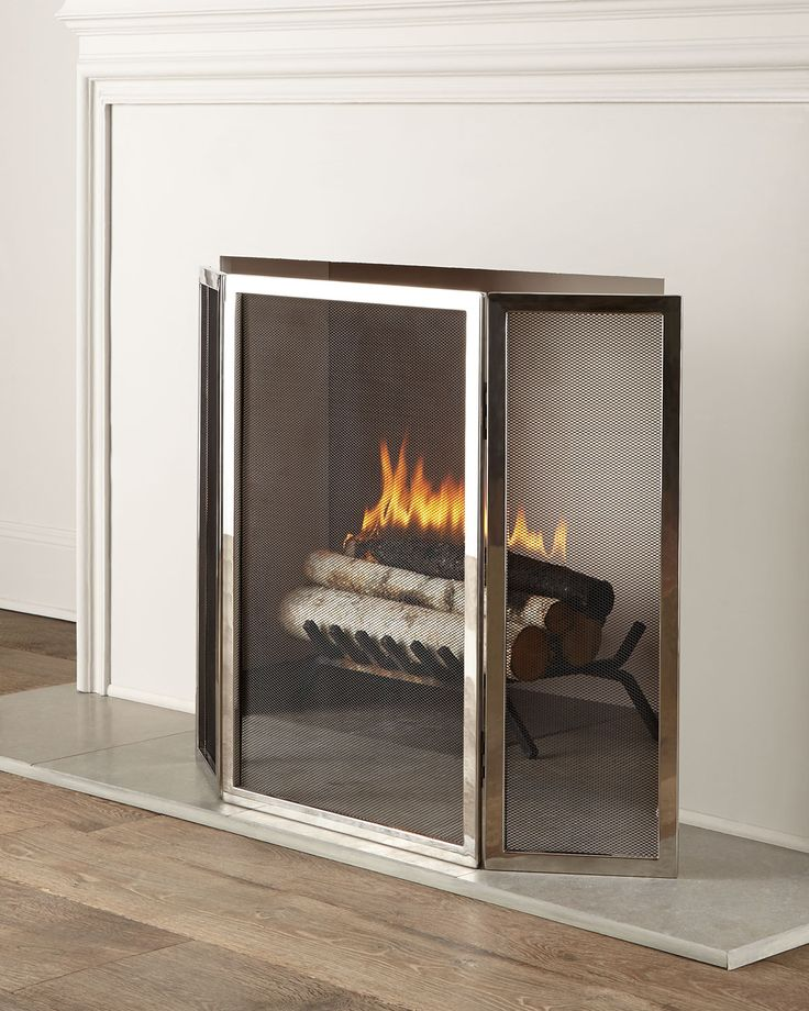 wood fireplace screens. Tulun Fireplace Screen  Silver INTERLUDE 21 Best Wood Stove Accessories Screens