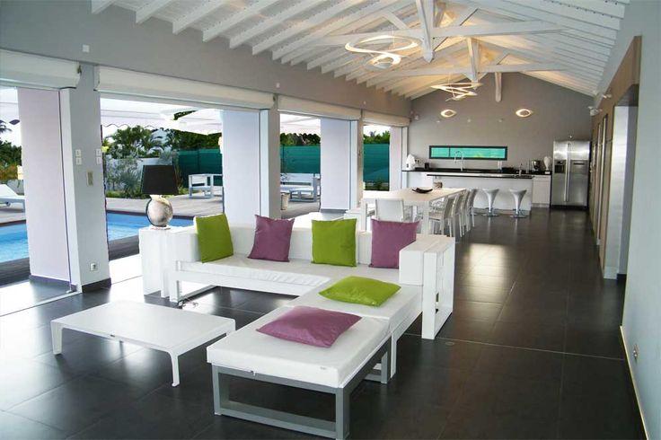 1000 images about villa la coul e bleue en guadeloupe for Decoration maison guadeloupe