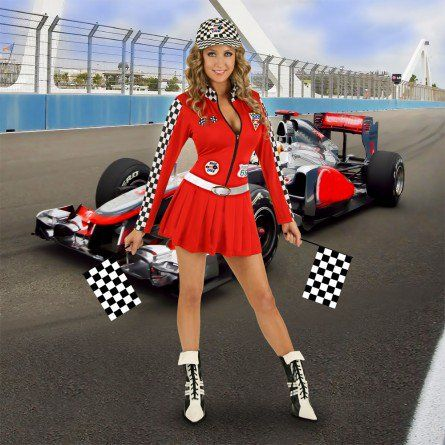 Red Racing Sports Costume