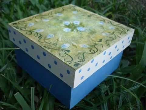 Cajas pintadas a mano cajas pinterest watches - Cajas de madera pintadas a mano ...