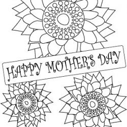 Free Printable Coloring Page For Kids To Make Cards Or Give As Gifts Mom Grandma Aunt Godmother Stepmother