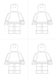 Design your own LEGO® man: I had this activity for kids who were early and while waiting for some who were late.  Click on the picture to get a full size version.  I just put them on the floor with a tub of pencils.