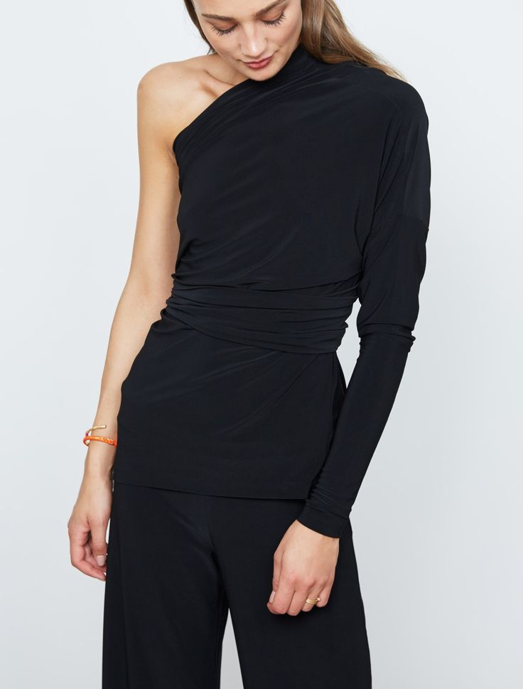 Norma Kamali All In One Top Black